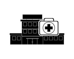 Hospital and first aid kit icon Stock Illustration