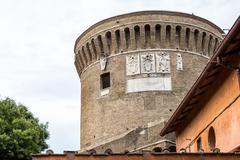 Castle of Giulio II in Ostia Antica Site Stock Photos