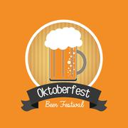 Beer drink oktoberfest design Stock Illustration