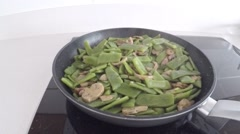 Green beans with bacon Stock Footage