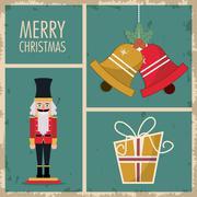 Nutcracker merry christmas design Piirros