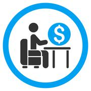 Banker Office Rounded Vector Icon Stock Illustration