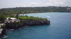 Aerial Santo Domingo seashore, Dominican Republic Stock Footage