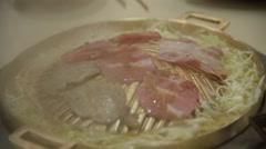 Korean grilled food Stock Footage