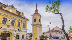 Timelapse in Targu Mures, Romania Stock Footage
