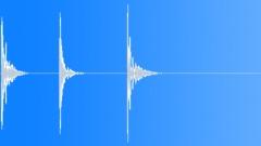 Wood Hits Wood Pound Fist Three Big Deep Sound Effect