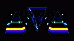 Techno Electric Pyramid Stock Footage