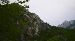 Velika Paklenica karst river canyon Stock Footage