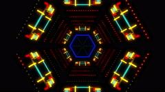 Hexagonal Bright Tunnel Stock Footage