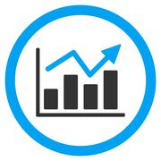 Bar Chart Trend Rounded Vector Icon Stock Illustration