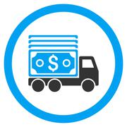 Cash Lorry Rounded Vector Icon Stock Illustration