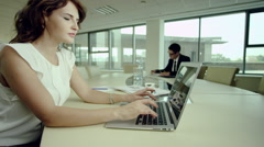 Business people work in office Stock Footage