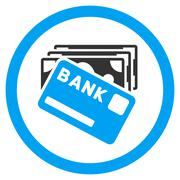 Credit Money Rounded Vector Icon Piirros