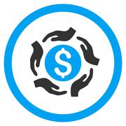 Money Care Hands Rounded Vector Icon Stock Illustration