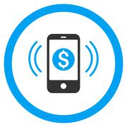 Payment Phone Ring Rounded Vector Icon Piirros