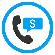 Phone Order Rounded Vector Icon Stock Illustration