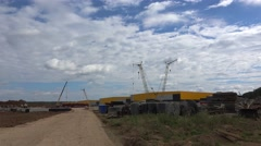 Construction site. Stock Footage