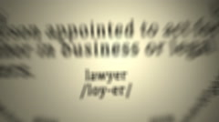 Definition: Lawyer Arkistovideo