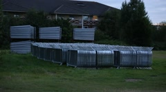 Modular aluminium fencing for events Stock Footage