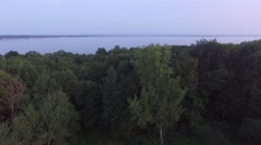 Aerial shot of Sands Point Preserve in NY, property boundry flyover Stock Footage