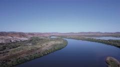 Colorado River Martinez Lake Nine Stock Footage