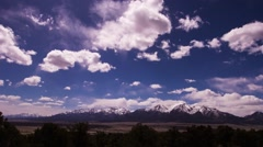 Time-lapse of Buena Vista Colorado sky and clouds. Stock Footage