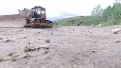 The rise over the territory of the landfill Stock Footage