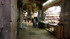 Alleys of the Old City of Jerusalem Stock Footage