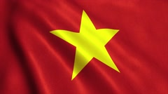 Vietnam Flag Looping Animation Video 4K Stock Footage