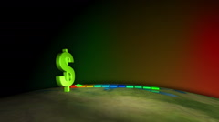 Dollar currency ruling the world Stock Footage