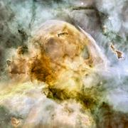 Stars nebula in space. Stock Photos