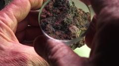 Cinnabar, mercury metal Stock Footage