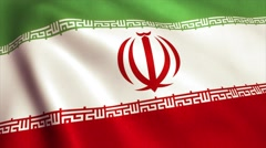 Iran Flag Video Animation 4K Stock Footage