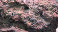 Cinnabar, mercury metal Stock Footage