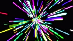 Bright funky neon lights background Stock Footage