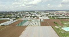 Agriculture panorama shot from sky. Stock Footage