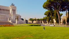 Piazza Venezia in Rome - Altar of the Fatherland Stock Footage