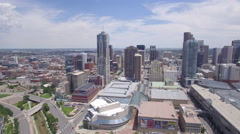 Denver Colorado Skyline Aerial View Stock Footage