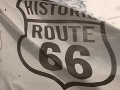 8mm Vintage Style Route 66 Flag Stock Video Stock Footage
