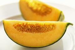 A Cantaloupe Wedge Stock Photos