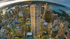 4k timelapse video of Sydney CBD from day to night Stock Footage