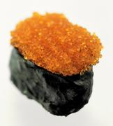 Gunkan-sushi with tobiko (flying fish caviare) Stock Photos
