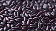 Rotating raw red beans. Vegan healthy nutrition Stock Footage