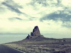 8mm Vintage Style Road Trip in American Southwest Stock Video Stock Footage