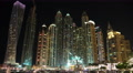 UHD 4K Dubai Marina night zoom in time lapse, United Arab Emirates 4k or 4k+ Resolution