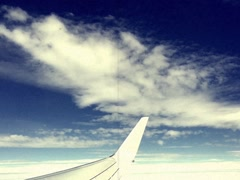 8mm Vintage Style Flying in Airplane Stock Video Stock Footage
