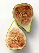 Two Fig Halves Stock Photos