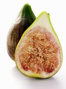 Half and Whole Fig Stock Photos