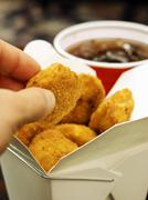 Taking a Chicken Nugget Stock Photos