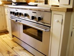 Stove in a Kitchen Stock Photos